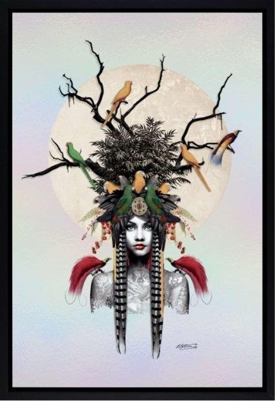 Maiden of the Forest Framed Art Print by Matt Herring