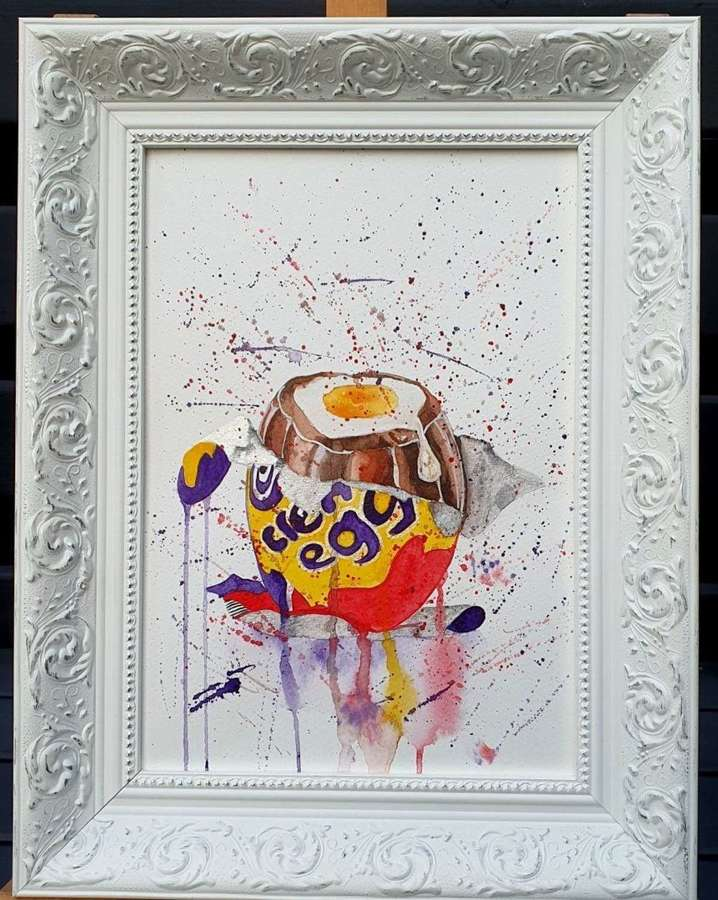 'How Do You Eat Yours? -Creme Egg Original Artwork By Melanie Jacobs