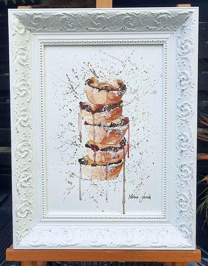 Mince Pie Stack - Original Artwork By Melanie Jacobs