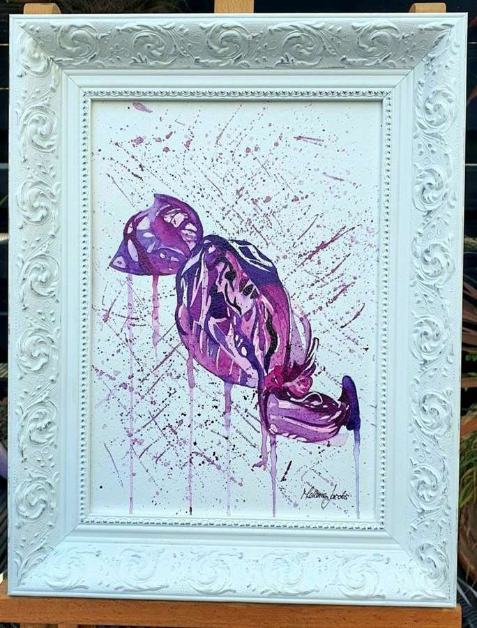 The Purple One ! (Quality Street)  Original Artwork By Melanie Jacobs